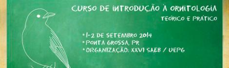 Curso de ornitologia em Ponta Grossa - PR