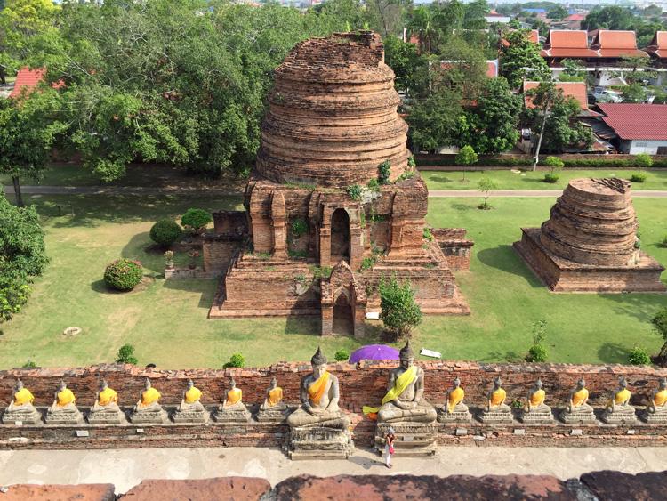 templo budista em Ayutthaya - Tailândia