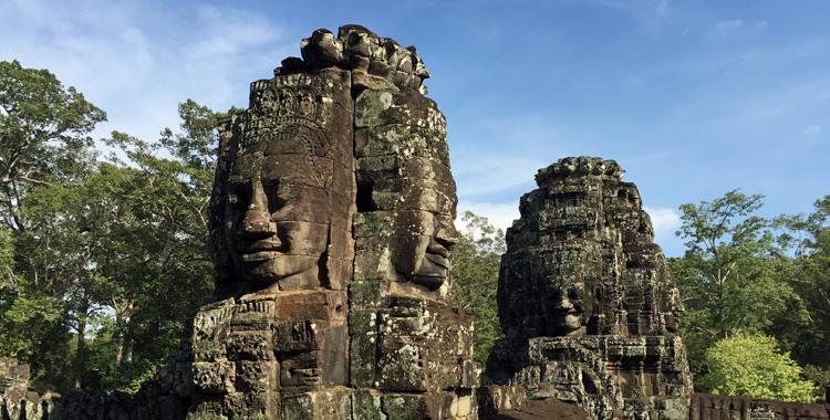 Templo Bayon, no Camboja